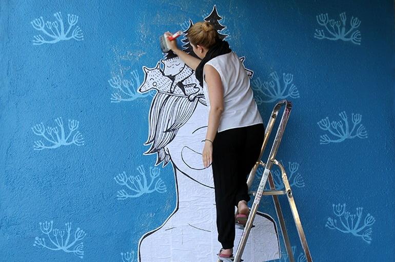 Comission Street Art // Tilattu katutaideteos
